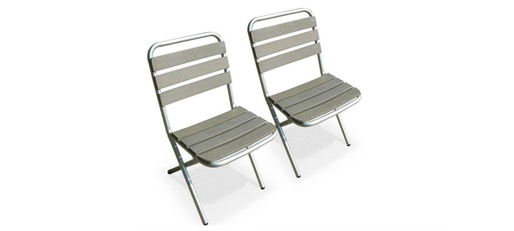 Chaises en aluminuim